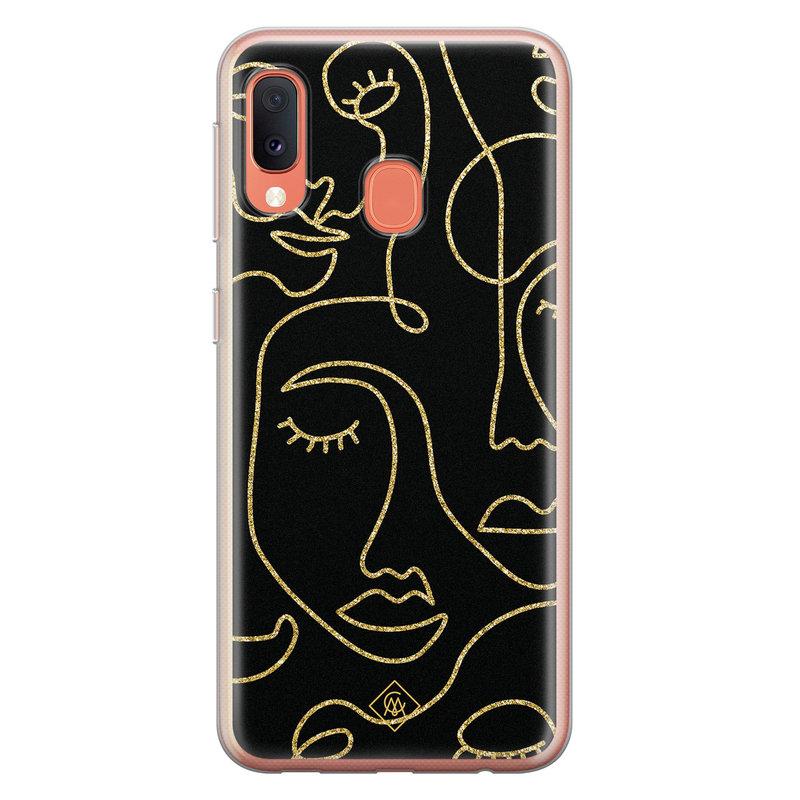 Casimoda Samsung Galaxy A20e siliconen hoesje - Abstract faces