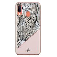 Casimoda Samsung Galaxy A20e siliconen hoesje - Snake print