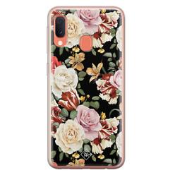 Casimoda Samsung Galaxy A20e siliconen hoesje - Flowerpower