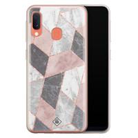 Casimoda Samsung Galaxy A20e siliconen telefoonhoesje - Stone grid