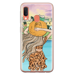Casimoda Samsung Galaxy A20e siliconen hoesje - Sunset girl