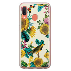 Casimoda Samsung Galaxy A20e siliconen hoesje - Sunflowers