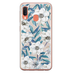 Casimoda Samsung Galaxy A20e siliconen hoesje - Touch of flowers