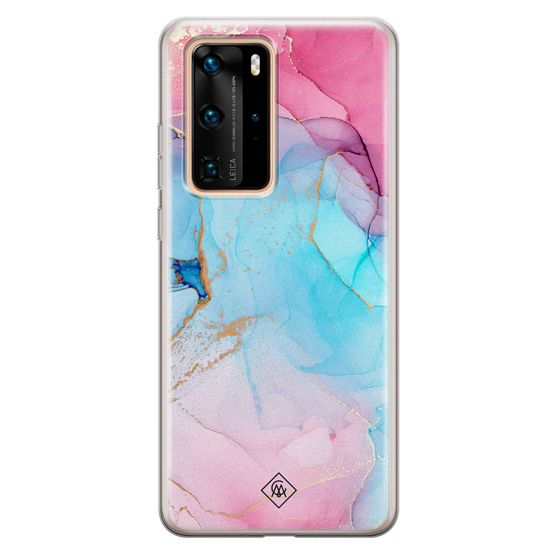 Casimoda Huawei P40 Pro siliconen hoesje - Marble colorbomb