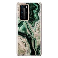 Casimoda Huawei P40 Pro siliconen hoesje - Green waves