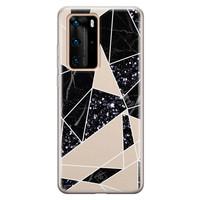 Casimoda Huawei P40 Pro siliconen telefoonhoesje - Abstract painted