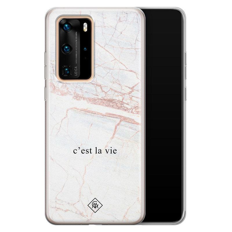 Casimoda Huawei P40 Pro siliconen telefoonhoesje - C'est la vie