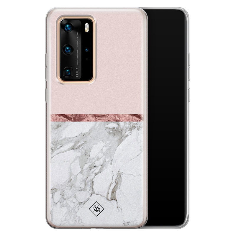 Casimoda Huawei P40 Pro siliconen telefoonhoesje - Rose all day