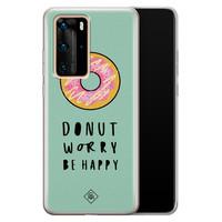 Casimoda Huawei P40 Pro siliconen hoesje - Donut worry