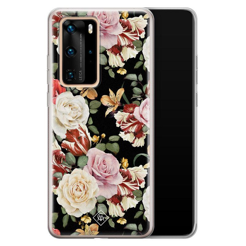 Casimoda Huawei P40 Pro siliconen hoesje - Flowerpower