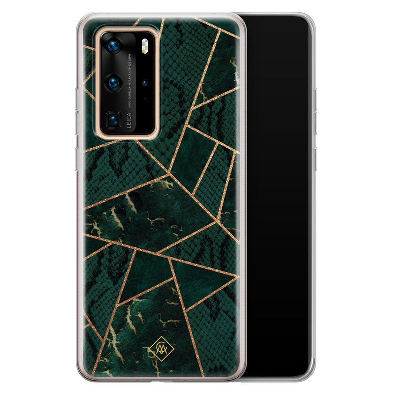 Casimoda Huawei P40 Pro siliconen hoesje - Abstract groen
