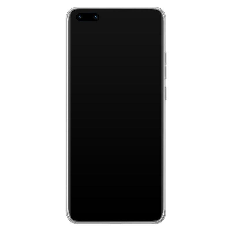 Casimoda Huawei P40 Pro siliconen hoesje - Marmer blauw