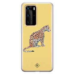 Casimoda Huawei P40 Pro siliconen hoesje - Leo wild