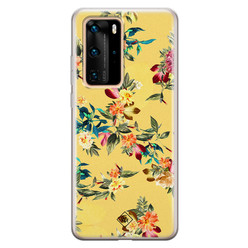 Casimoda Huawei P40 Pro siliconen hoesje - Floral days