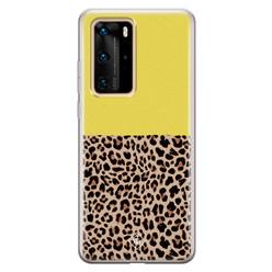 Casimoda Huawei P40 Pro siliconen hoesje - Luipaard geel
