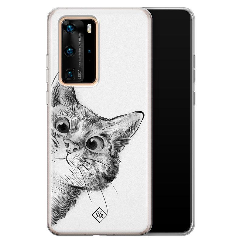 Casimoda Huawei P40 Pro siliconen hoesje - Peekaboo