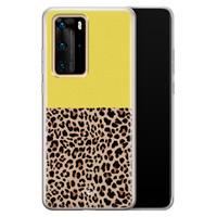 Casimoda Huawei P40 Pro siliconen hoesjje - Luipaard geel
