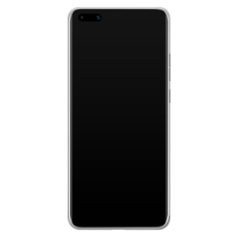 Casimoda Huawei P40 Pro siliconen hoesje - Marmer triangles
