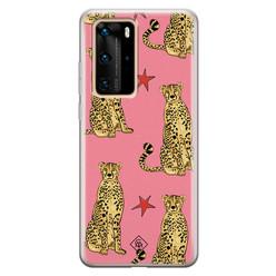 Casimoda Huawei P40 Pro siliconen hoesje - The pink leopard