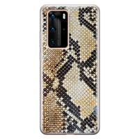 Casimoda Huawei P40 Pro siliconen hoesje - Golden snake