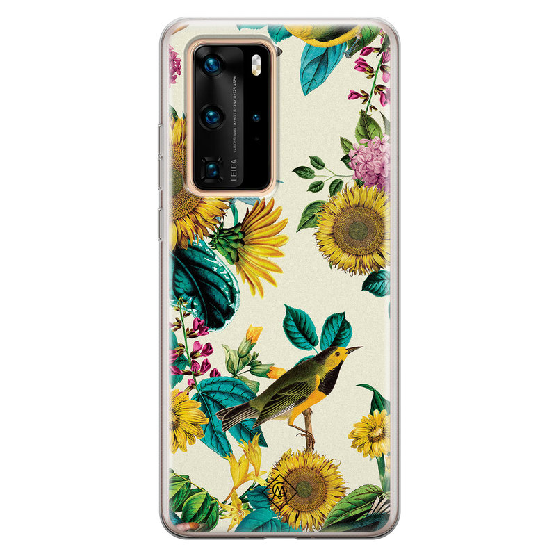 Casimoda Huawei P40 Pro siliconen hoesje - Sunflowers