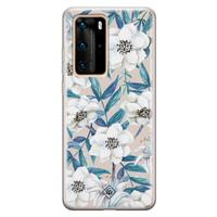 Casimoda Huawei P40 Pro siliconen telefoonhoesje - Touch of flowers