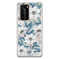 Casimoda Huawei P40 Pro siliconen hoesje - Touch of flowers
