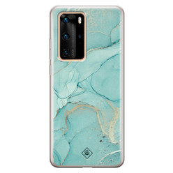 Casimoda Huawei P40 Pro siliconen hoesje - Touch of mint