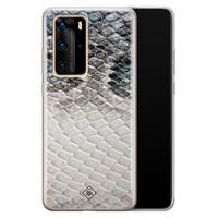 Casimoda Huawei P40 Pro siliconen hoesje - Oh my snake