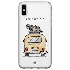Casimoda iPhone X/XS siliconen hoesje - Let's get lost