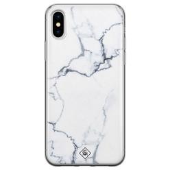 Casimoda iPhone X/XS siliconen hoesje - Marmer grijs