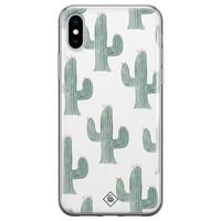 Casimoda iPhone X/XS siliconen telefoonhoesje - Cactus print