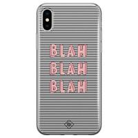 Casimoda iPhone X/XS siliconen telefoonhoesje - Blah blah blah