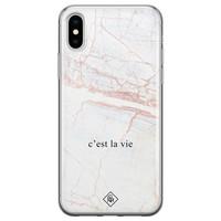 Casimoda iPhone X/XS siliconen telefoonhoesje - C'est la vie