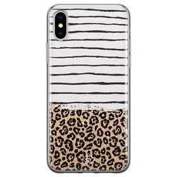 Casimoda iPhone X/XS siliconen hoesje - Leopard lines