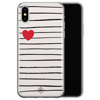 Casimoda iPhone X/XS siliconen hoesje - Heart queen