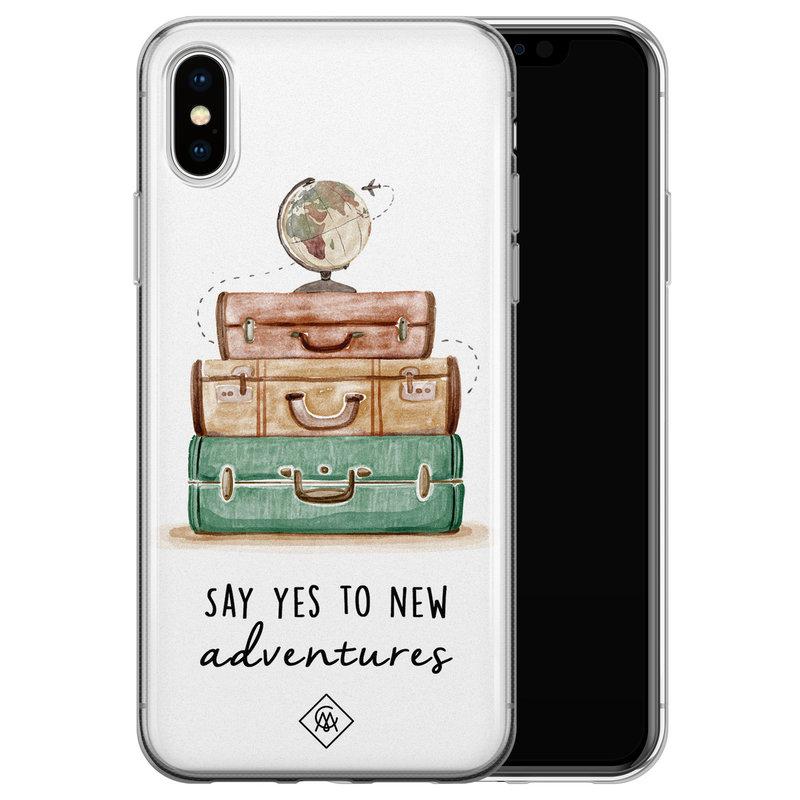 Casimoda iPhone X/XS siliconen hoesje - Wanderlust