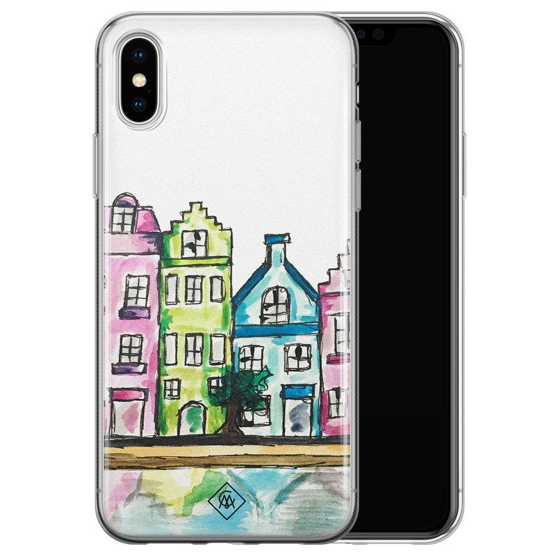 Casimoda iPhone X/XS siliconen telefoonhoesje - Amsterdam