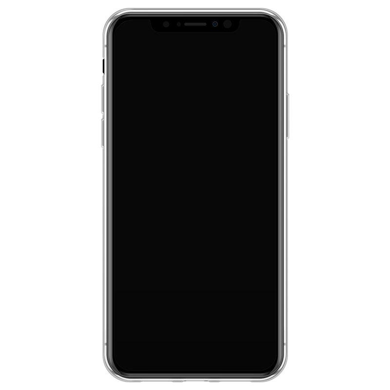 Casimoda iPhone X/XS siliconen telefoonhoesje - Palm leaves silhouette