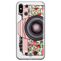 Casimoda iPhone X/XS siliconen hoesje - Hippie camera
