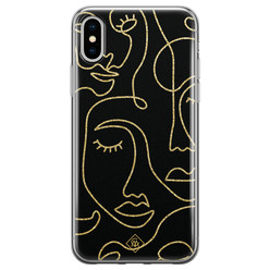 Casimoda iPhone X/XS siliconen hoesje - Abstract faces