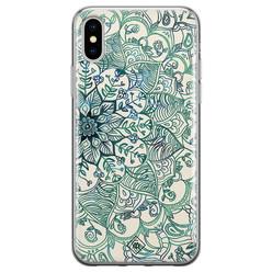 Casimoda iPhone X/XS siliconen hoesje - Mandala blauw
