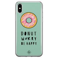 Casimoda iPhone X/XS siliconen hoesje - Donut worry