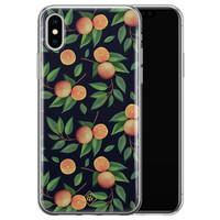 Casimoda iPhone X/XS siliconen hoesje - Orange lemonade