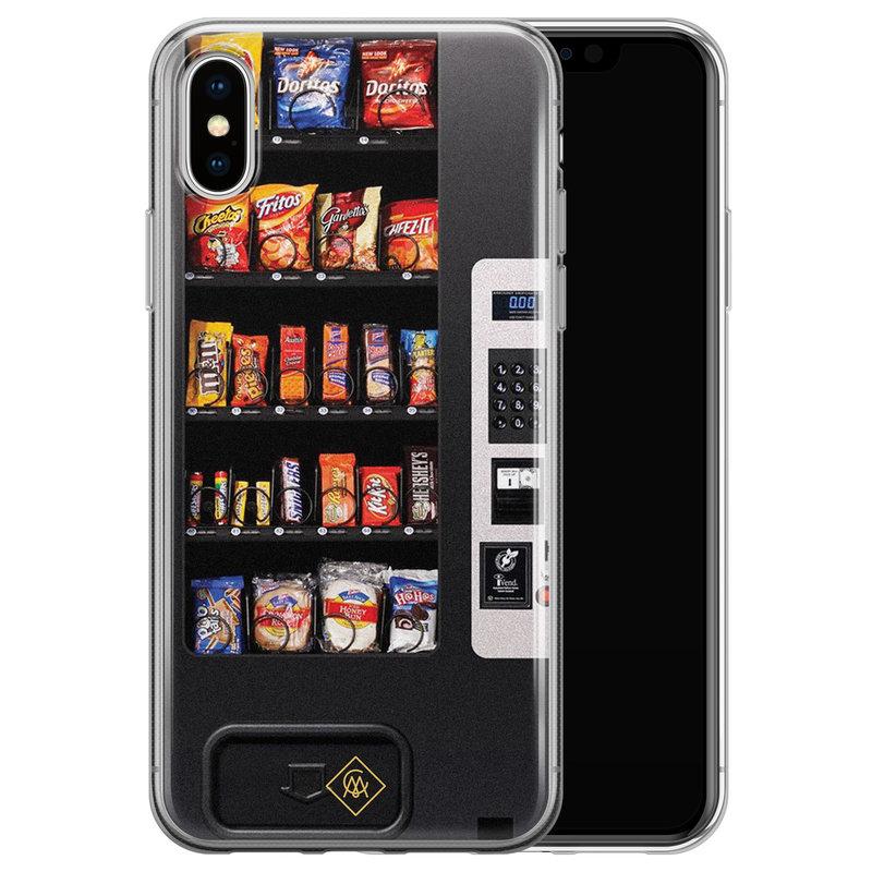 Casimoda iPhone X/XS siliconen hoesje - Snoepautomaat