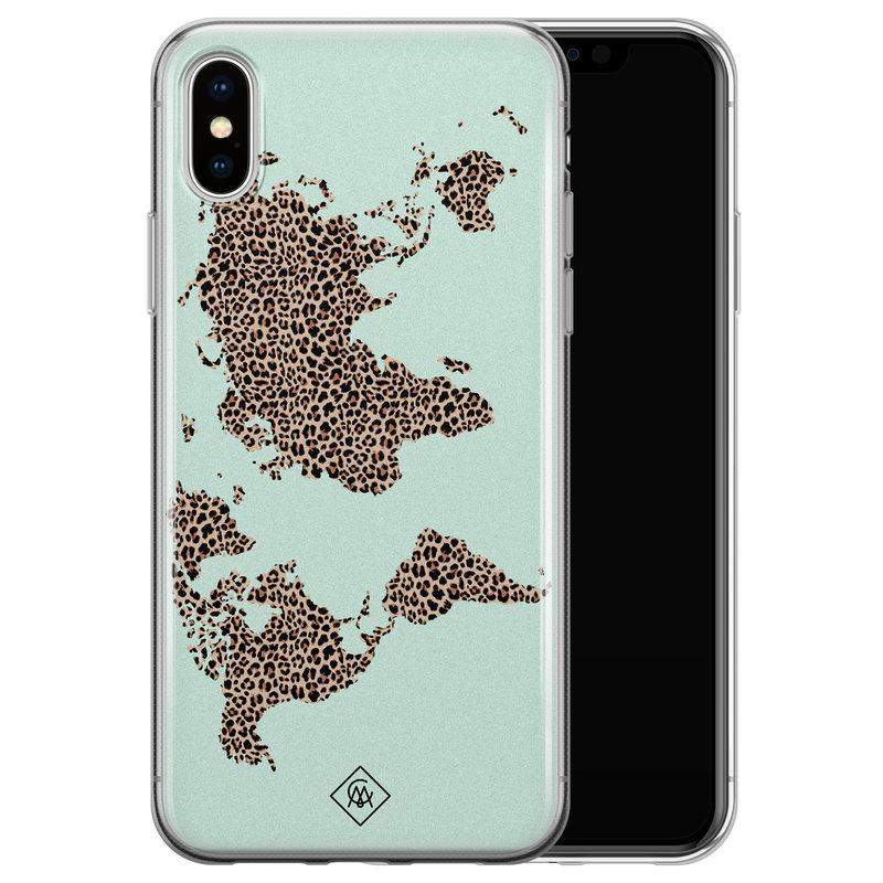 Casimoda iPhone X/XS siliconen hoesje - Wild world