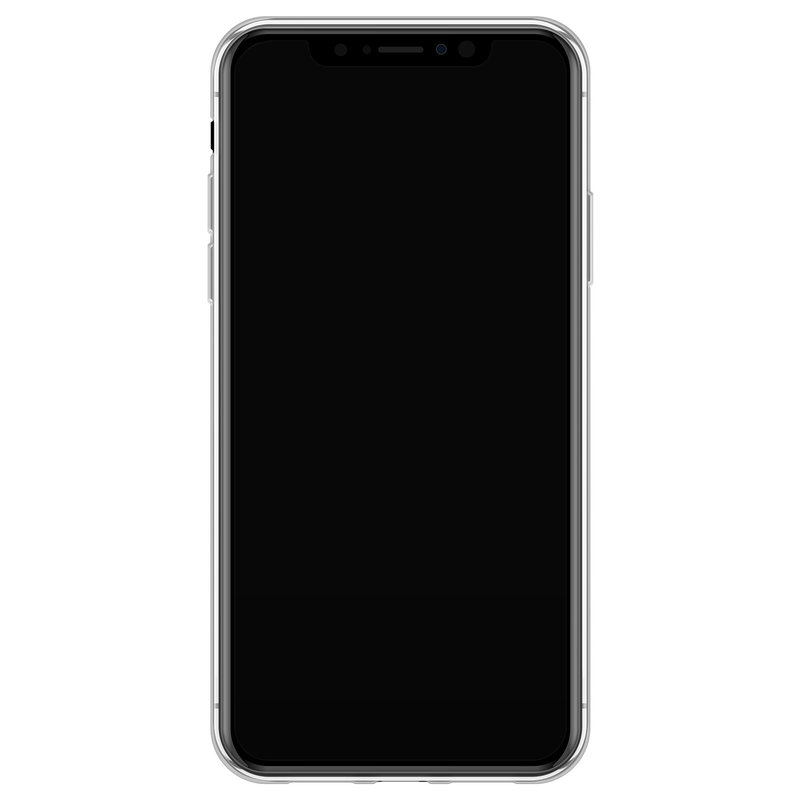 Casimoda iPhone X/XS siliconen hoesje - Marmer blauw goud