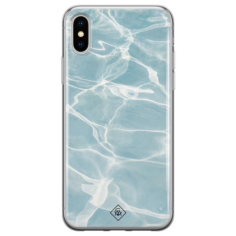 Casimoda iPhone X/XS siliconen hoesje - Oceaan
