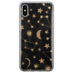 Casimoda iPhone X/XS siliconen hoesje - Counting the stars