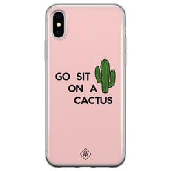 Casimoda iPhone X/XS siliconen hoesje - Go sit on a cactus